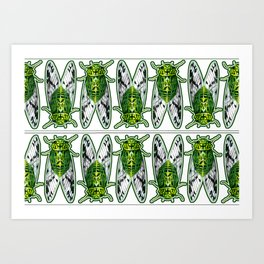 Emerald Cicadas Art Print