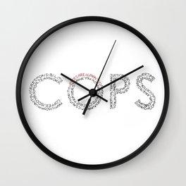 Cops: A Tribute Wall Clock