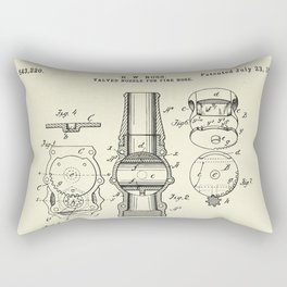 Valved Nozzle for Fire Hose-1895 Rectangular Pillow