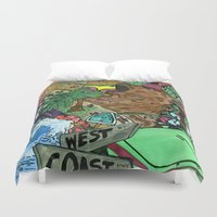 west coast Duvet Covers featuring west coast. by Late Bloomer
