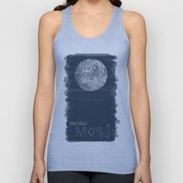 to the moon Unisex Tank Top