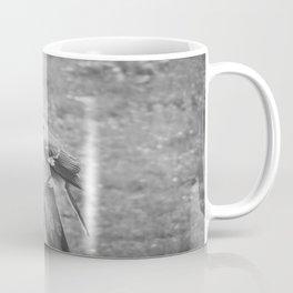 The Bird Black and White Coffee Mug