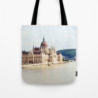 budapest Tote Bags featuring Budapest by Christina Annbel
