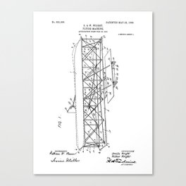 Wright Brothers Patent: Flying Machine Canvas Print