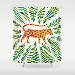 Jaguar – Green Leaves Shower Curtain
