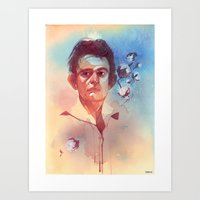 johnny cash Art Prints featuring Johnny Cash by Liz O'Connor
