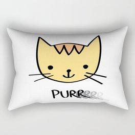 Purrrrrrring with Thunder the Kitten Rectangular Pillow