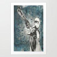 Luke Skywalker I am here for Han Art Print