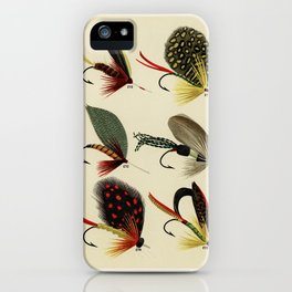 Bass Flies from Favorite Flies and Their Histories by Mary Orvis Marbury. 5 iPhone Case