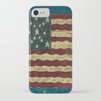 american flag iPhone & iPod Cases featuring American Flag by Argi Univrs