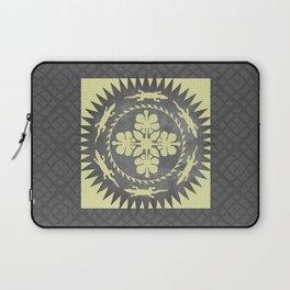Alligator hibiscus medallion Laptop Sleeve