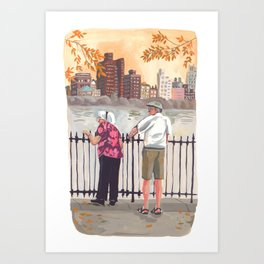 Grow Old Together in New York Art Print