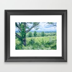 Never Ending Field Framed Art Print