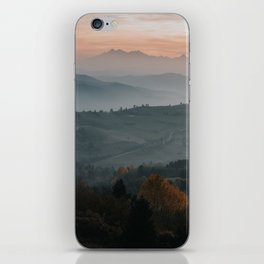 Hazy Mountains - Landscape and Nature Photography iPhone Skin