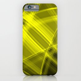 Neon strokes with yellow diagonal lines from intersecting bright stripes of glow.  iPhone Case