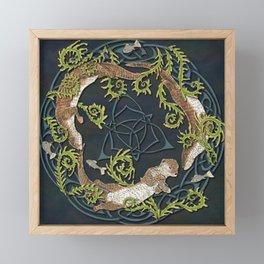 Celtic Otters Framed Mini Art Print