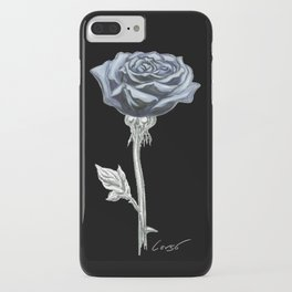 Rose 03b Botanical Flower * Blue Black Rose iPhone Case