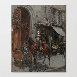 The Dispatch Bearer - Giovanni Boldini Canvas Print