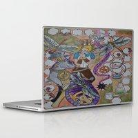 steam punk Laptop & iPad Skins featuring Steam Punk Wonderland by Labartwurx
