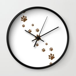 Dog Paws walk Wall Clock