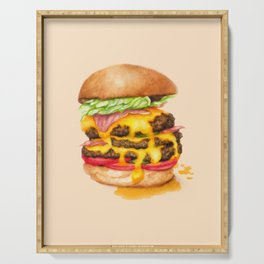 Juicy Cheeseburger Serving Tray
