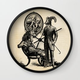 Mountain Sheep Husband & Horse Wife and their Portrait of Eden Wall Clock