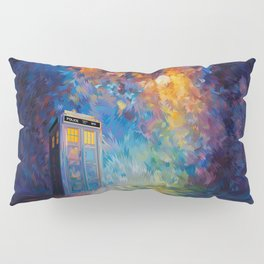 Tardis Doctor Who Rainbow Abstract Pillow Sham