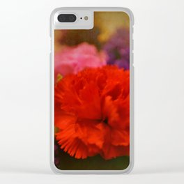 Carnation Romance Clear iPhone Case