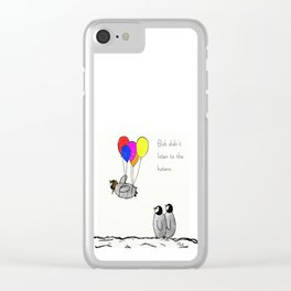 To be a Flying Penguin Clear iPhone Case