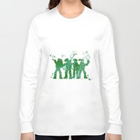 teenage mutant ninja turtles Long Sleeve T-shirts featuring Teenage Mutant Ninja Turtles by Carma Zoe