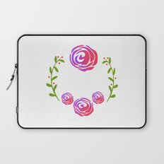 Floral Round Laptop Sleeve