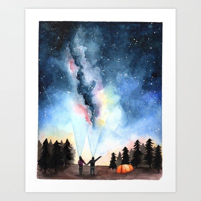Galaxy Artwork Art Print