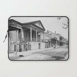 Chartres Street, Vieux Carre, New Orleans, Louisiana 1906 Laptop Sleeve