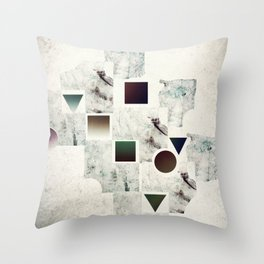 Of Fragments and Wholes Throw Pillow