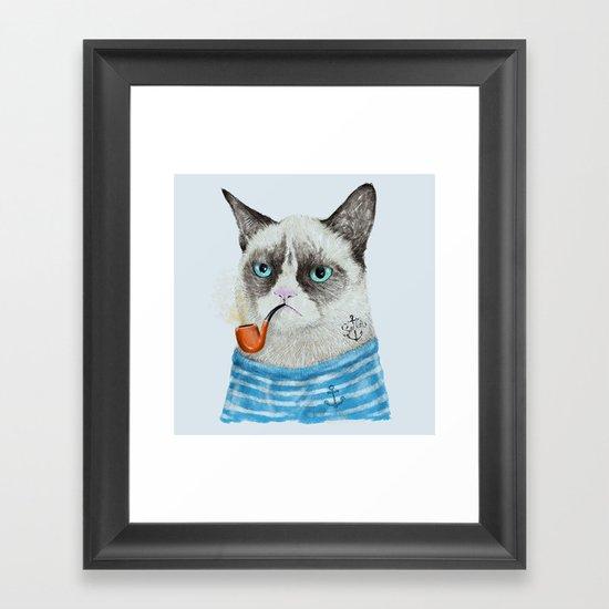 Sailor Cat I Framed Art Print