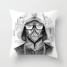 Def Vader Throw Pillow