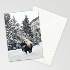 Frosty Bison Stationery Cards