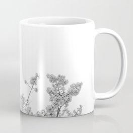Cherry Blossoms (Black and White) Coffee Mug