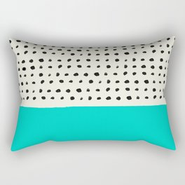 Aqua x Dots Rectangular Pillow