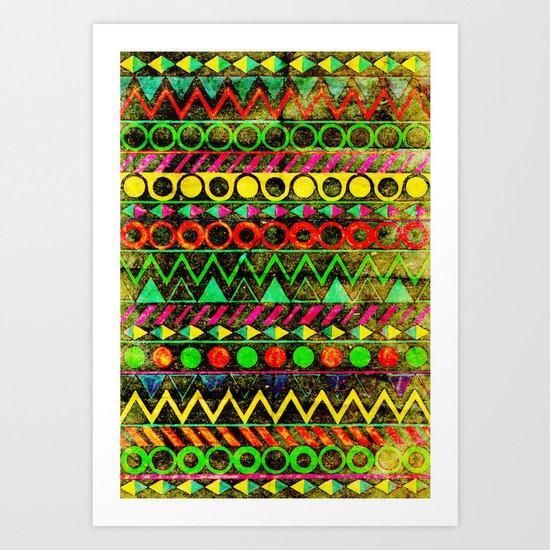 Aztecism Art Print