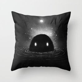 The Creature from the Black Swamp Throw Pillow