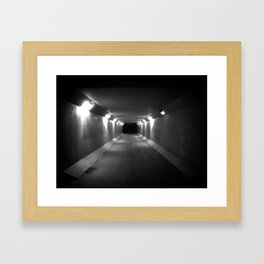 no light at the end of the tunnel Framed Art Print