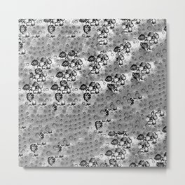 Flowers and Textiles Metal Print