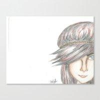 bohemian Canvas Prints featuring Bohemian  by Kayla Rose