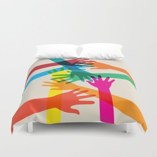 Hands #001 Duvet Cover