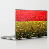 gold glitter Laptop & iPad Skins featuring Sparkle Glitter Red Gold by Saundra Myles