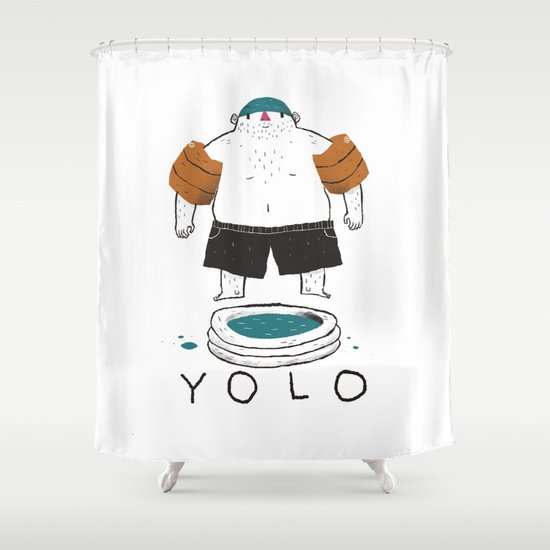 yolo Shower Curtain