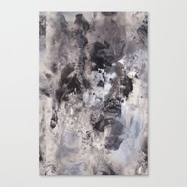 Monochrome Chaos Canvas Print