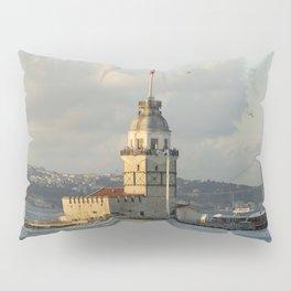 Istanbul Turkey towers Maiden Tower Kiz Kulesi, Bosphorus Cities Pillow Sham