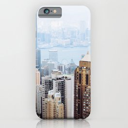 Hong Kong Skyline View from Victoria Peak iPhone Case